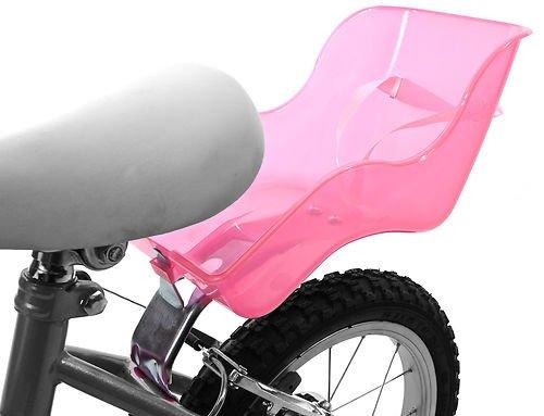 Seggiolino universale da bici, per bambola, attacco al telaio, in plastica, rosa