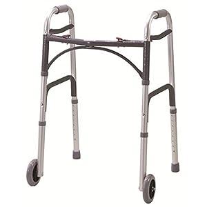 Gehhilfe, zusammenklappbar mit Rädern Leichtgewichtiger Zimmer Rahmen