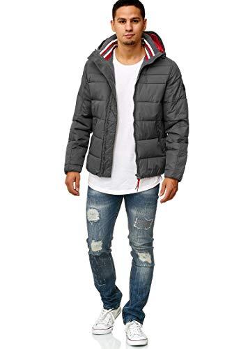 Indicode Herren Philpot Steppjacke Übergangsjacke Jacke mit Kapuze Dk Grey S - 5
