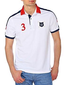 M.Conte Men Polo-Shirt short sleeve Camisas de polo mangas cortos para los Blanco Azul M L XL XXL XXXL hombres...