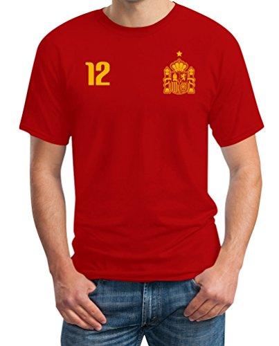 Maglia uomo - coppa del mondo - fan spagna t-shirt maglietta uomo xxxxx-large rosso