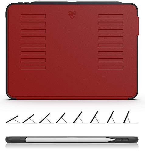 ZUGU CASE The Muse Case - 2018 iPad Pro 12.9 inch - Very Protective But Thin + Convenient Magnetic Stand + Sleep/Wake Cover by (Red 2018 iPad Pro 12.9 Gen 3) (Case Stand Ipad)