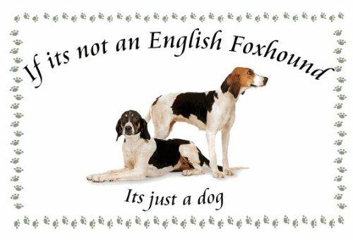 English Foxhound – Novelty Dog keyrings – If its not