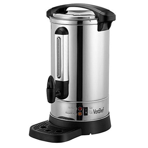 41F V2qaVUL. SS500  - VonShef Catering Urn, Stainless Steel Hot Water Dispenser Perfect for Tea, Coffee and Instant Boiling Water with Automatic Temperature Control & Keep Warm Function - 8L