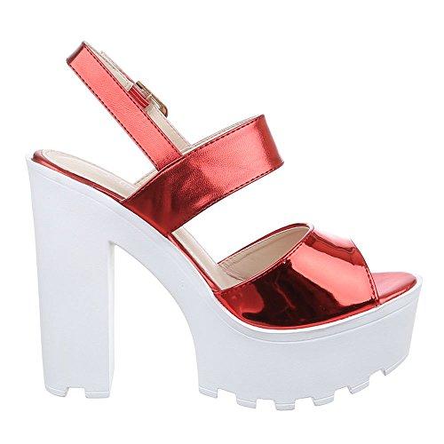 Ital-Design - Sandali  donna Rosso (Rosso)