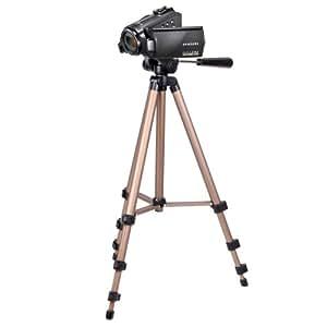 DURAGADGET trépied extensible et robuste – qualité professionnelle – pour caméscope Samsung HMX-H200BP/XEU & HMX-F90 HD