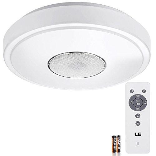 LE-24W-Plafoniera-Bluetooth-Speaker-pari-fluorescente-50W-1800LM-3000-6000K-con-Telecomando-IR
