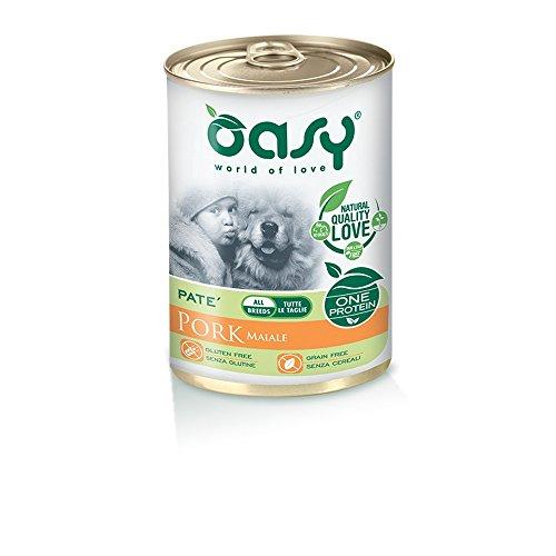 OASY One protein umido cane al maiale 400gr Alimenti umidi monoproteici per cani