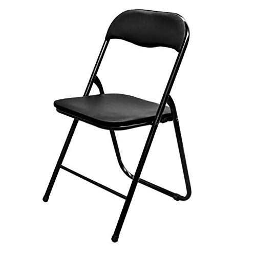 QIDI Chaise Pliante St Tabouret Pliant Chair Chaise d'ordinateur Chair Chaise de Bureau , Pliable , Cuir - 45 * 47 * 79 cm - Multicolore en Option (Couleur : Noir)