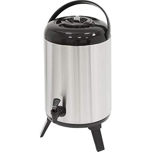 Gastro-Bedarf-Gutheil Dispenser 9,5 Liter Thermoskanne mit Zapfhahn Isolierkanne ideal für kalte und warme Getränke Kaffee Tee Saft Wasser Spender Kessel Airpot (Wasser Kessel Dispenser)
