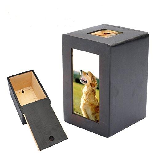 Haustier Haus Hund Katze Feuerbestattung Urne Gedenk Ruhig Photo Box Viereck - Foto Urn Katze