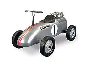 retro roller 0706119 laufauto racing team silber spielzeug. Black Bedroom Furniture Sets. Home Design Ideas