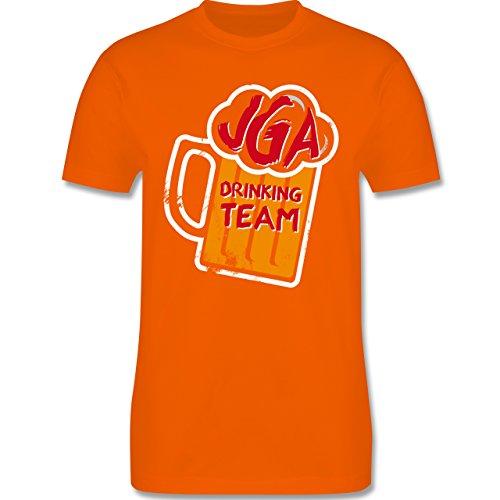 JGA Junggesellenabschied - JGA Drinking Crew Bierkrug - Herren Premium T-Shirt Orange