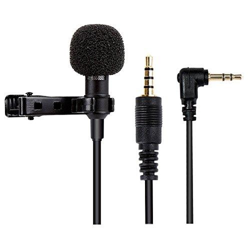 Mikrofon für Smartphone, Omnidirectional Kondensator-Mikrofon für iPhone & Android Smartphone, Laptop Macbook, iPad, iPod Touch mit Lavalier Lapel