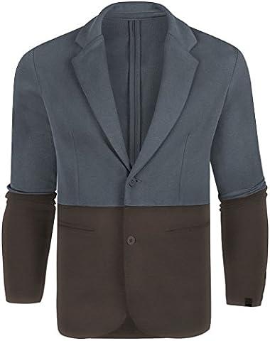 Puma 'Brooklyn We Go Hard - BWGH' Dip Dye Blazer Jackets (Large, Navy/Brown)