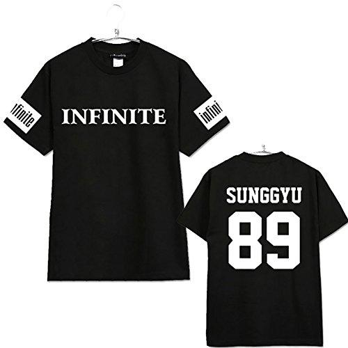 infinite kpop black t-shirt shirt  100 /% cotton