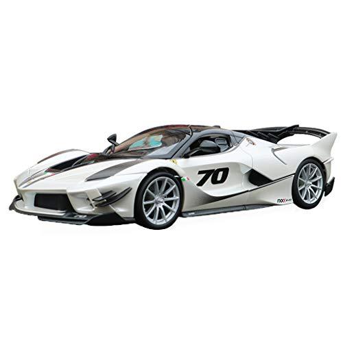 GAOQUN-TOY 1:18 Ferrari FXXK EVO Sportwagen Erwachsene Kollektion Version Simulation Legierung Automodell Ornamente (Farbe : Weiß, größe : 26.5cm*11.2cm*6cm)