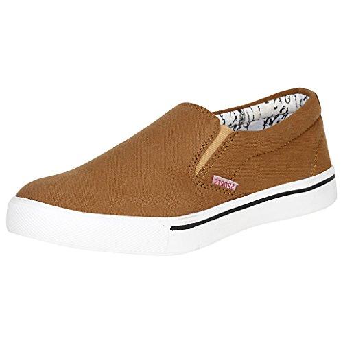 Kraasa Men's Tan Casual Shoes -7