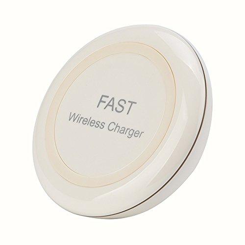 (Fulltime E-Gadget 3-Coil Wireless Ladegerät QI Wireless Lade Telefon Ständer Ladegerät, Ladekabel, Ladestation für iPhone 8/8 Plus/X (Weiß))