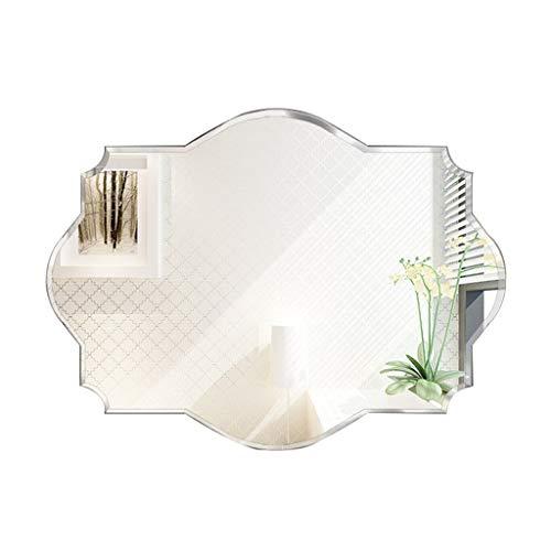 Espejo Pared Biselado Afeitado/Maquillaje Sin Marco