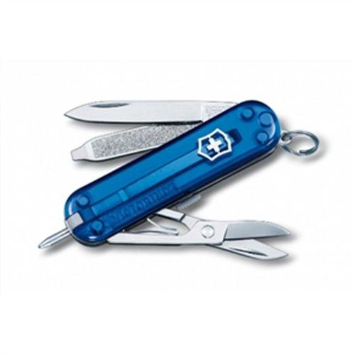 Victorinox Taschenmesser Swiss Lite (7 Funktionen, LED-Licht, Schere) blau transparent