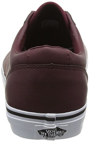 Vans Dawson, Baskets Basses Homme Rouge (Leather port/white)