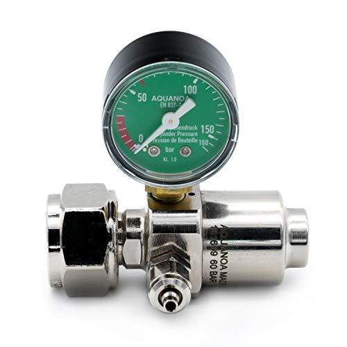Aqua-Noa CO2 - Druckminderer Basic Variante Basic M1, Mehrweg, 1 Nadelventil, 1 Manometer -