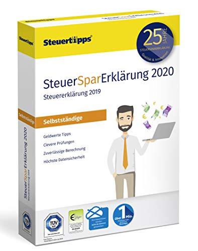 SteuerSparErklärung für Selbstständige 2020, Schritt-für-Schritt Steuersoftware für die Steuererklärung 2019, Steuer CD-Rom für Windows 10, 8