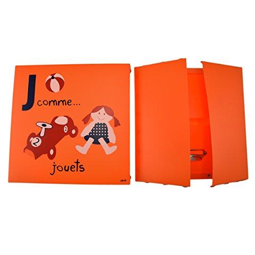 Incidence Paris 42314 Boite - Abécédaire - Jouets Plastique, Orange, 32x32x15 cm