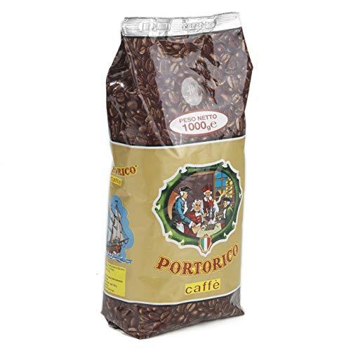 Kaffee Portorico Caffè Oro 1000g ganze Bohnen 50/50 Arabica Robusta Kaffeemischung raditionell Italienische Röstung der Bohnen (Hervorragend Geeignet für: Espresso, Latte Macchiato, Cappuccino)