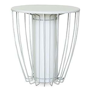 Kama Bout de canapé lumineux en acier blanc Blanc - Alinea 35.0x39.0x3