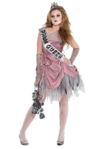 (Mädchen Halloween Teen Rosa Zombie Prom Queen Kostüm Large (10-12 years))