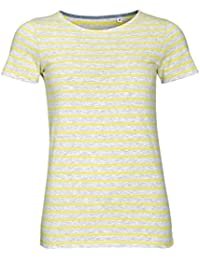SOLS Damen Miles T-Shirt, gestreift, kurzärmlig