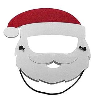 MoGist Máscara de Navidad 1 PCS Estilo Blanco Papá Noel Niño Sombrero de Santa Elfo Árbol de Navidad Elk Muñeco de Nieve Máscara de Dibujos Animados Máscara de Navidad Tamaño Figura Material Poliéste