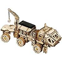 8Eninite Solar Science Fiction 3D Puzzle Tridimensionale Mars Car Modello Meccanico in Legno Colore Hermes Rover