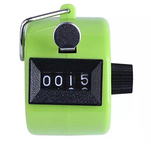 Zähler , Colorful (TM) Handzählgerät, Handzähler ,4-stellige Handzähler (Grün)
