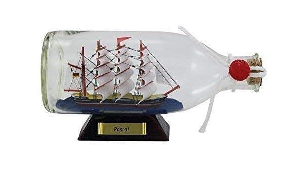 Buddelschiff Bateau Bouteille 29 CM Triangulaire Bouteille Deux Thoniers Canneurs