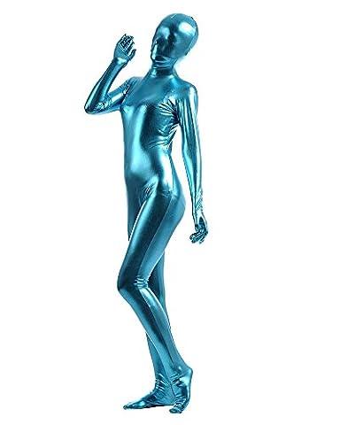 Black Widow Halloween Costume Accessoires - Adultes Pure Couleur Halloween Dancewear Bleu