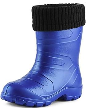 Ladeheid Botas de Agua Antideslizantes Zapatos de Seguridad Unisex Niños LA845KIDS
