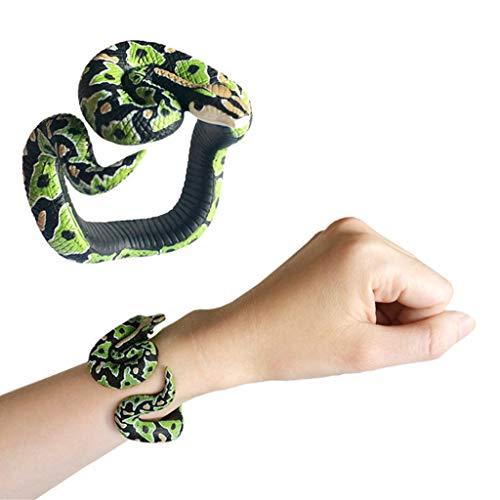 Mitlfuny Auto-Modell Plüsch Bildung Squishy Spielzeug aufblasbares Spielzeug im Freien Spielzeug,Simulationsharz-Tier-Pythonschlange-Armband handgemachtes gemaltes PVC-materielles Spielzeug
