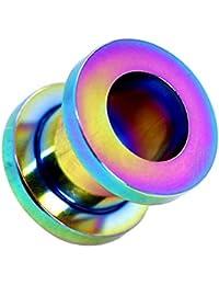 1 Expansor Túnel Flesh Tunnel Ear Plug Piercing Para Oreja Lóbulo Color Arco ...
