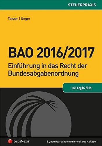 Bfg-buch (BAO 2016/2017 (Steuerpraxis))