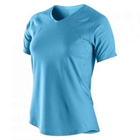 Nike Femmes Sphere Dry Distance Maillot de course 339238-485 (Taille XS)