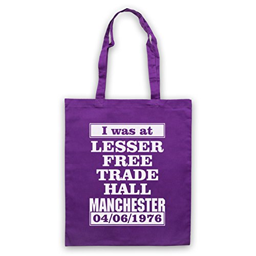 I Was At Lesser Free Trade Hall Manchester Umhangetaschen Violett