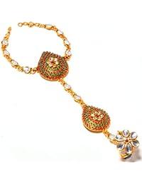 Gnzoe Gold Plated Women Stud Earrings Resin Moon Black Bead White 75x24MM