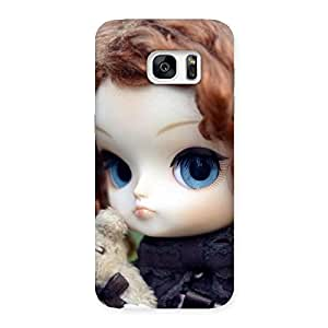 Hugging Teddy Doll Multicolor Back Case Cover for Galaxy S7 Edge