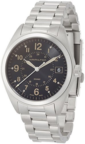 Hamilton Herren Analog Quarz Uhr mit Edelstahl Armband H68551133