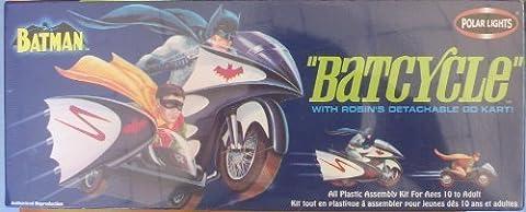 Batman & Robin Batcycle with Go Kart Aurora Reissue Model Kit by Polar lights by Polar Lights