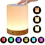 NOBLJX Touch Control Lamp LED Nachtlicht-Teuchlampe wiederaufladbare Portable Night Light Dimmable Warm White Light Colorful für Kinder Bedroom