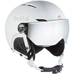 Bollé Casco de esquí Juliet Visor Soft White/Nordic/Silver Gun/Lemon, 52–54cm, 31159